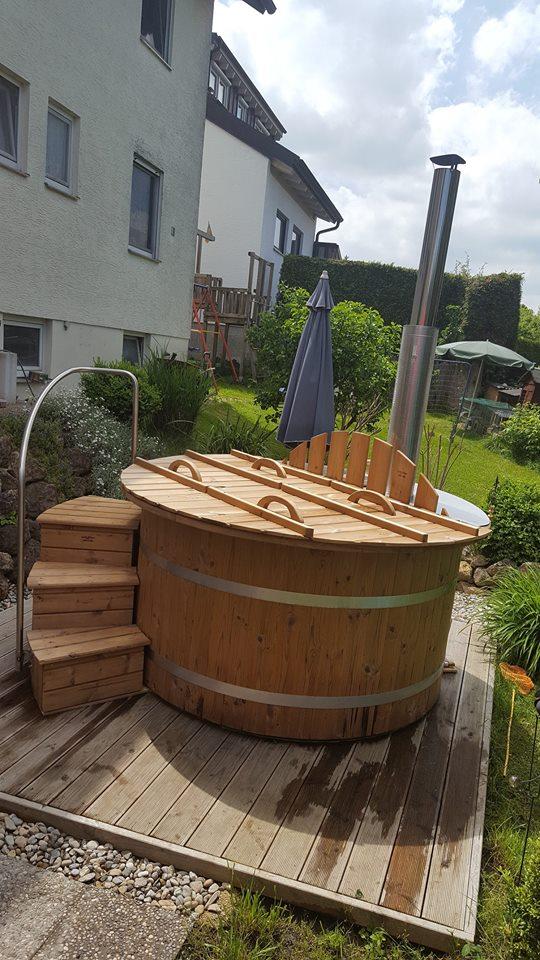 Badefass Badezuber Mit 30 Kw Innenofen Isbjorn Hot Tubs