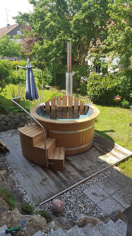 badezuber einstieg treppe thermoholz isbj rn hot tubs. Black Bedroom Furniture Sets. Home Design Ideas