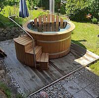 Aufstellung Badefass Im Garten Isbjorn Hot Tubs